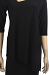 Sympli-3-4-Sleeve-Focus-Tunic-in-Black