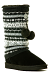 Huggrz-Boot-Wraps-Fair-Isle-Knit-Boot-Wrap-in-Black