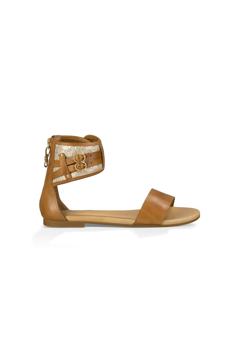 Savana Metallic Basket Sandals