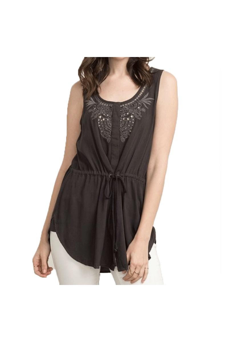 Embellished Sleeveless Vest Dress
