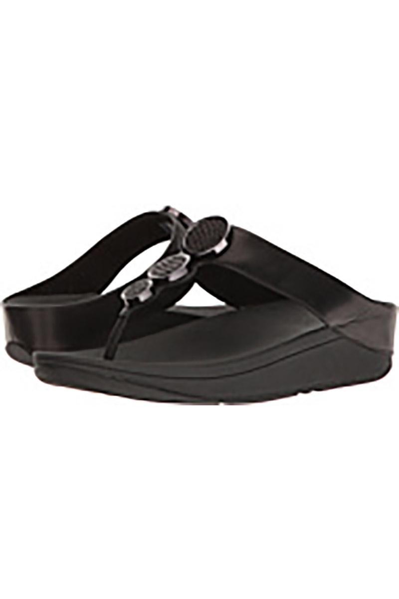 Halo Toe Thong Sandal in Black