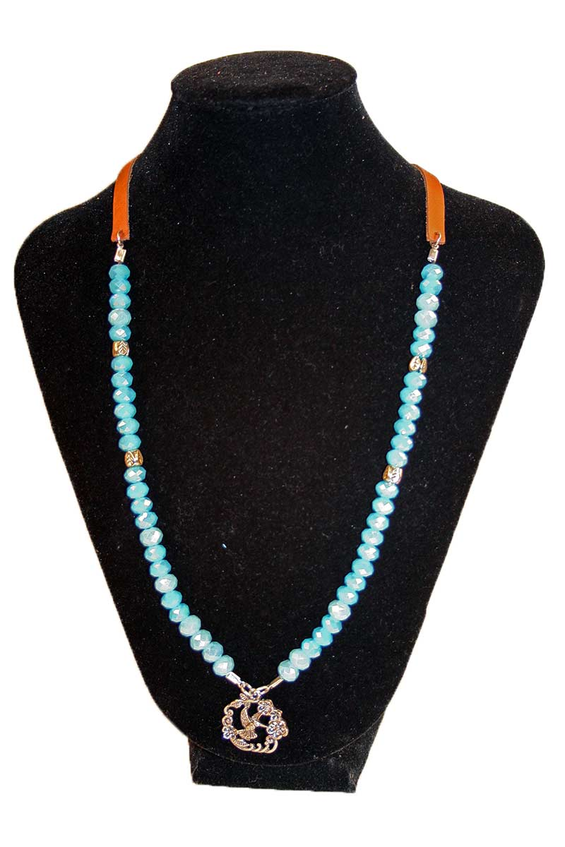 Beads With Humming Bird Necklace