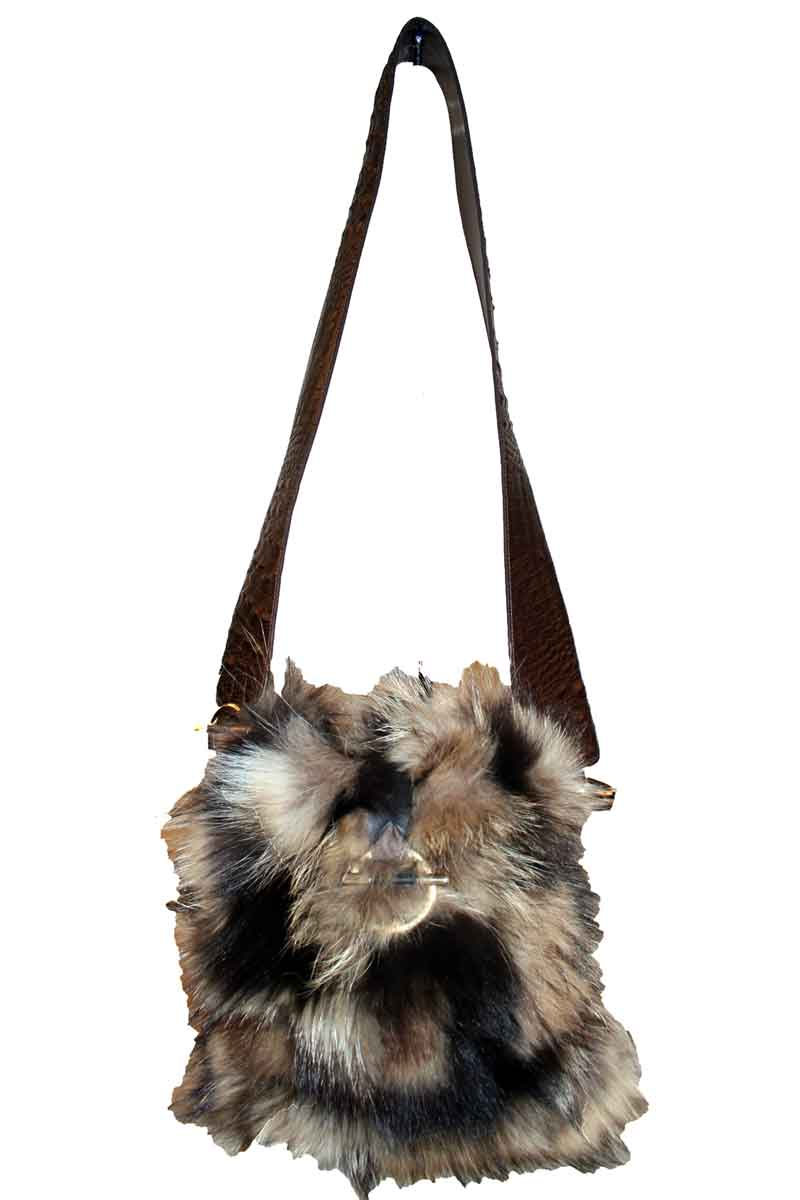 Brown Fox Purse With Leather Strap
