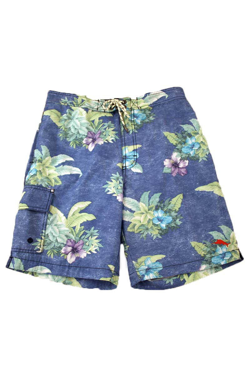 Baja Hibiscus Hukilau Swim Trunks