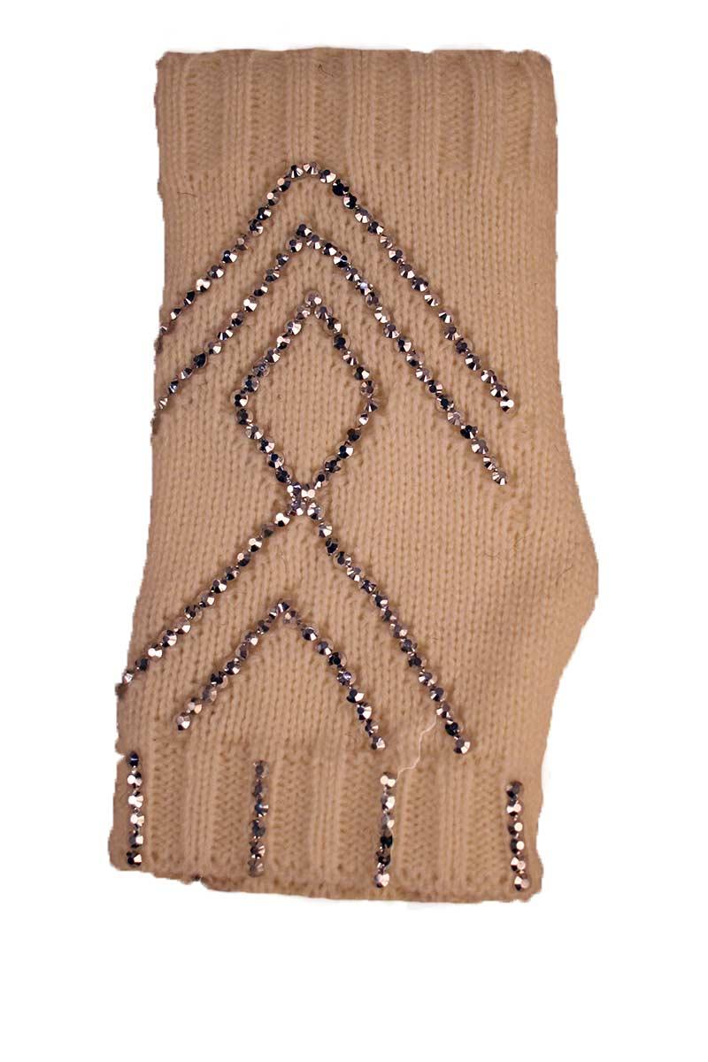 Fingerless Gloves With Stones