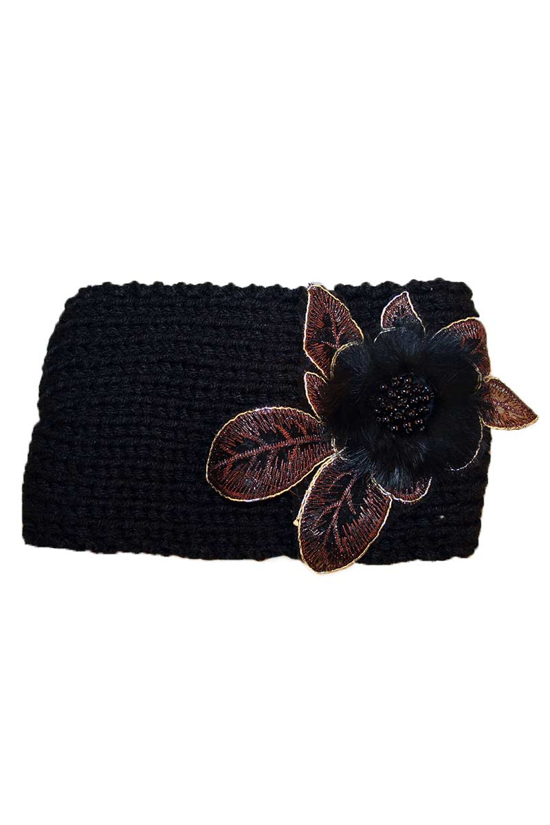 Head Wrap With Flower