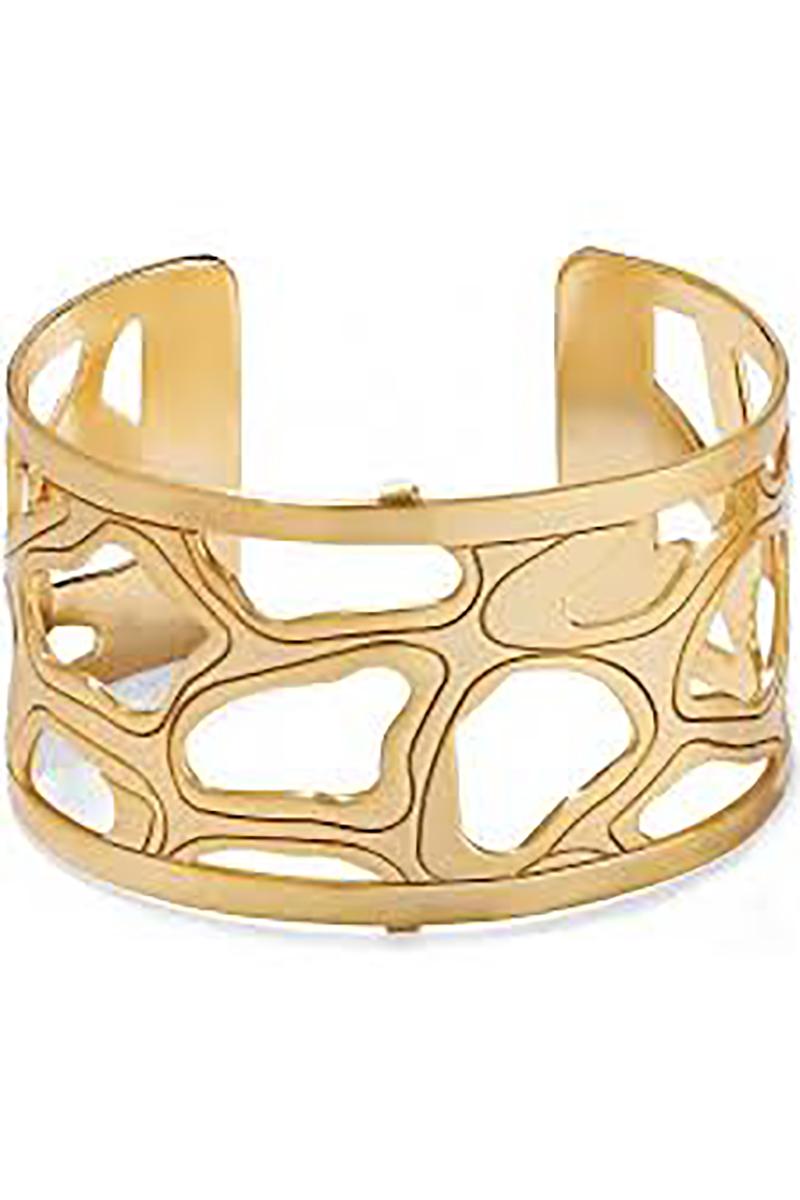 Christo Nairobi Wide Cuff Bracelet in Gold