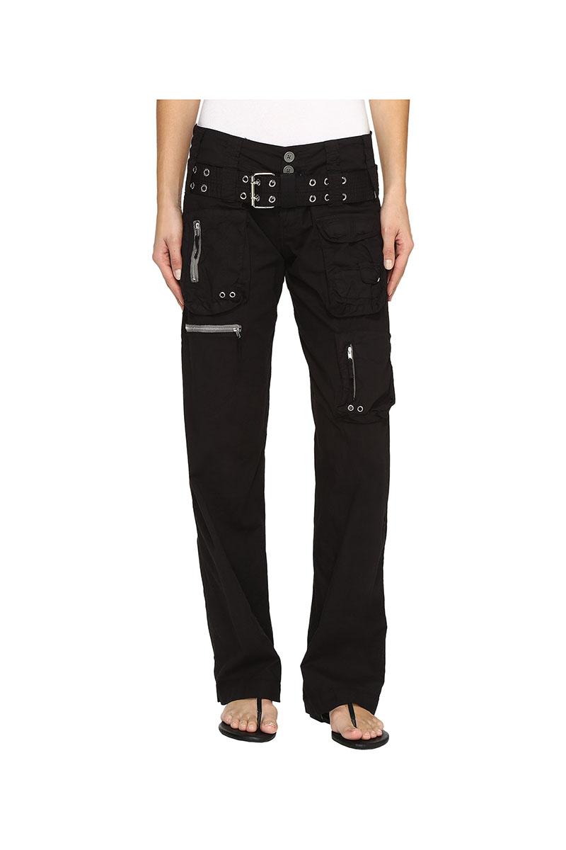 Poplin Cargo Pant in Black