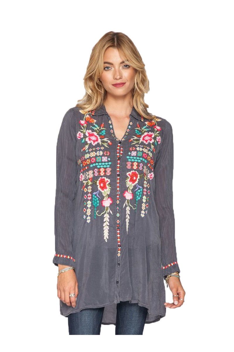 Butterfly Dream Blouse in Blue Steal