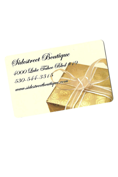 Sidestreet Boutique Gift Cards