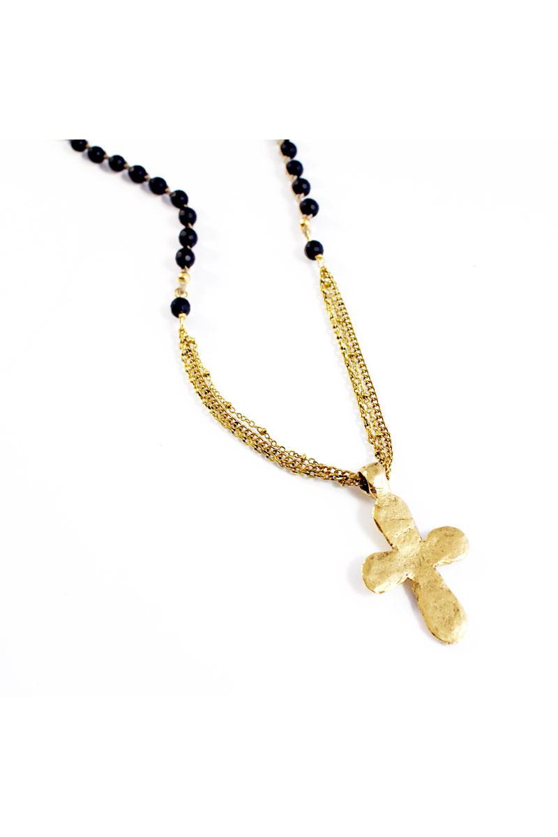 Saffron Necklace (black/gold)