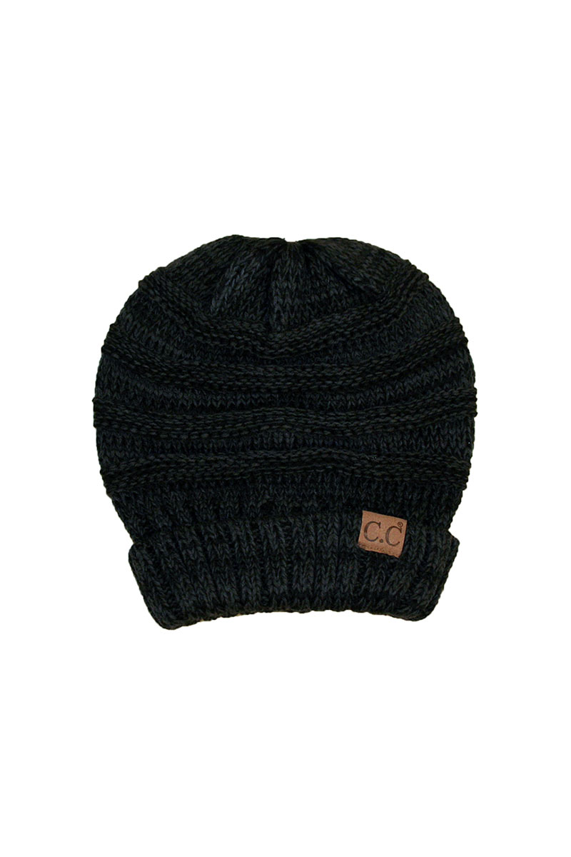 Tricolor Slouchy Beanie
