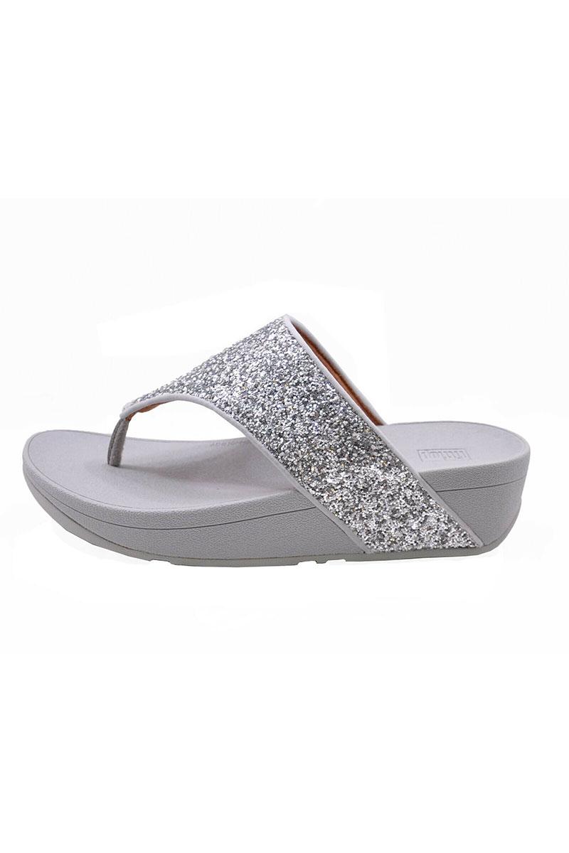 Olive Glitter Mix Toe-Post Sandals