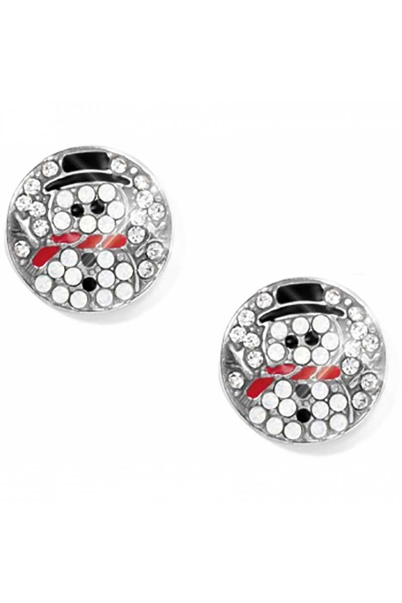 Blingy Snowman Post Earrings