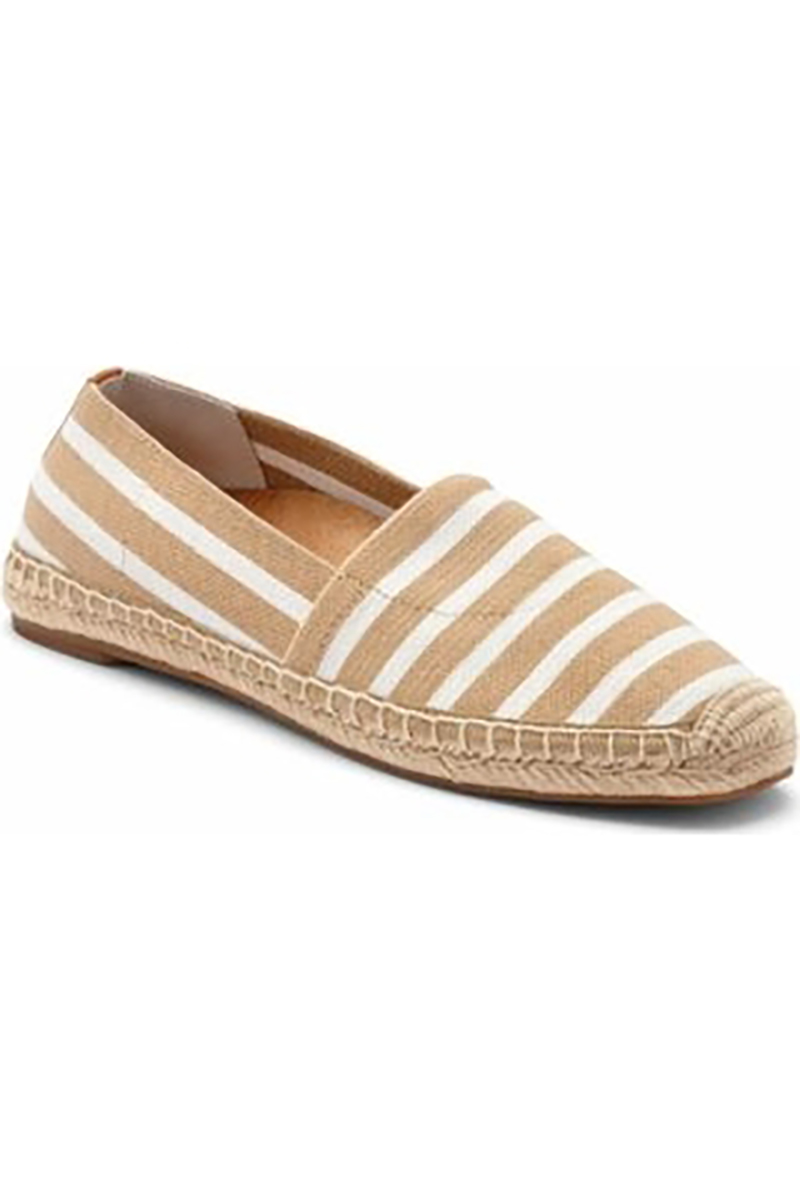 Flat Slip On in Sand Stripe