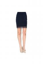 Mix Mini Skirt in Navy