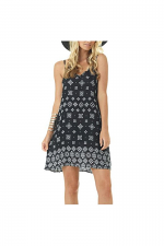 Print Halter Dress in Black