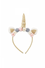 Gold Plush Unicorn Headband