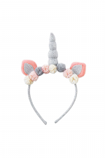 Silver Plush Unicorn Headband