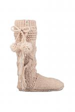 Cozy Slipper Sock in Cream Heather