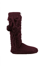 Cozy Slipper Sock in Port Heather