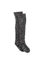 Cable Knit Sock in Charcoal Heather