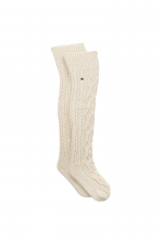 Cable Knit Sock in Cream