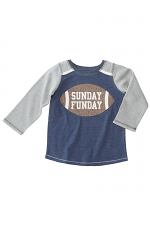 Sunday Funday Football Top in Grey