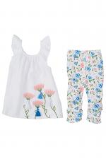 Floral Flutter Tunic & Capri Set