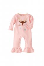Pink Reindeer Ornament Dazzle One-Piece