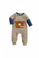 Bear Hugs Striped Layered One-Piece