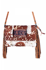 Cowhide Clutch with Fringe