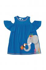 Blue Elephant Cold Shoulder Dress