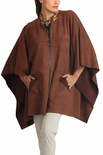 Suede Over Sized Poncho
