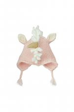 Pink Unicorn Woven Knit Hat