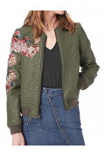 Embroidered Jacket in Forest