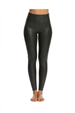 Faux Leather Leggings in Gunmetal
