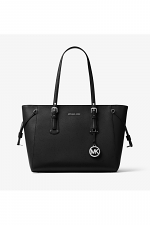 Voyager Medium Crossgrain Leather Tote Bag