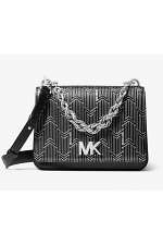 Mott Large Metallic Deco Leather Crossbody