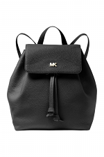 Junie Leather Medium Flap Backpack