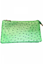 Clutch/Crossbody Folded in Ostrich Pattern