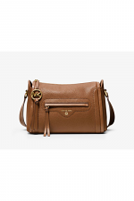 Carine Large Pebbled Leather Crossbody Bag