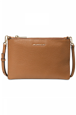 Large Pebbled Leather Double-Pouch Crossbody
