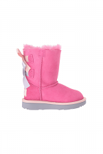 Toddler Bailey Bow ll in Pink Azalea & Icelandic Blue