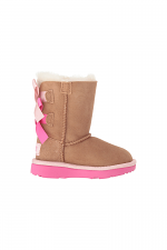 Toddler Bailey Bow ll in Chestnut & Pink Azalea