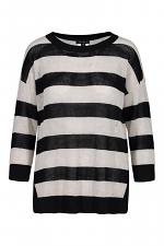 Open Stitch Cotton Stripe Sweater