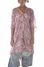 Cotton Silk Hand Block Print Jaya Kaftan