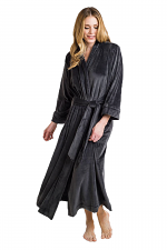 Serenity Robe in Charcoal