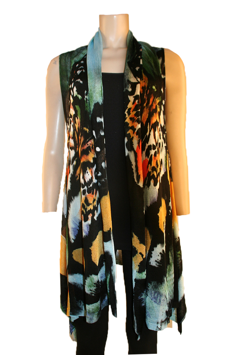 Monarch Butterfly Print Vest