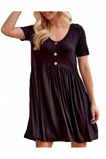 Baby Doll Dress with Buttons